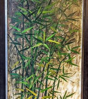 "Framed vintage painting by Philippines artists Pablo Munez. Purchased in 1978. Acrylic on canvas. New frame in 2006. 22""w x 40""h. 295.-"