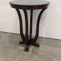"""Occasional table from Norwalk Furniture. 23""""dia. x 30.75""""h. 125.-"""