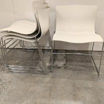 "**ITEM NOW SOLD** Set/4 Knoll 'Handkerchief' dining chairs, purchased in 2008-2009. 23""w x 22.5""d x 29.5""h. Current list: $2,508. set/4 (one chair has some scratches). Modele's Price: 895. set/4"