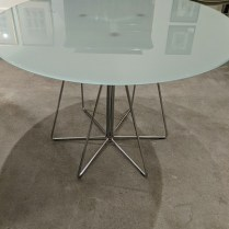 "Knoll medium 'Paperclip' table, purchased in 2008-09. 42"" dia. x 28.5""h. Current list: $3,012. Modele's Price: 795.-"