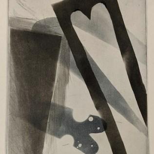 """Christi Birchfield (Seattle artist) original etching, unframed. 10.5""""w x 13.75""""h. 125.-"""