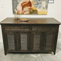 """Restoration Hardware 'Shutter' sideboard. Less than 1 year old, discontinued style. Locking doors, keys included. 54""""w x 23.5""""d x 34""""h. 495."""