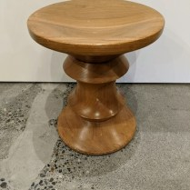 """Vintage Herman Miller Eames walnut stool, style 'A'. Purchased in 1965 in NYC. 13""""dia. x 15""""h. Vintage and well-loved condition, compare online, up to $3000. Modele's Price: 1250."""