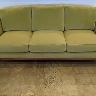 "Baker Barbara Barry sofa with velvet back cushions. 86""w x 39""d x 36""h. Orig. list: over $4,000. Modele's price: 1750."