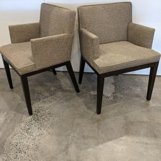 """Pair Room & Board 'Ansel' armchairs, 6 years old. 23.75""""w x 23.25""""d x 33.25""""h. Current list: $1,098. + $79. delivery= $1,177. Modele's price: 575. pair"""