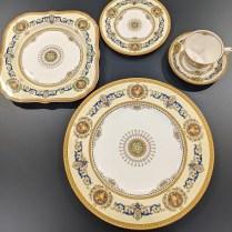 63 pc. set vintage Royal Worcester 'Empire' china set, c. 1928. Includes 18 dinner plate. 495. set