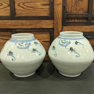 """Pair medium size ginger jars, never used, from Maison Luxe. 13.75"""" dia. x 12""""h. Orig. list: $550. pair Modele's price: 275. pair"""