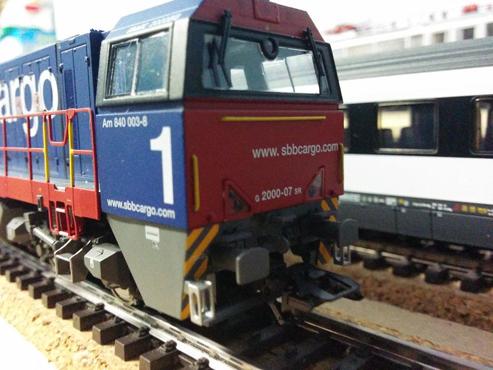Diesellok G2000 AM840 SBB Cargo von Märklin auf der Modellbahn