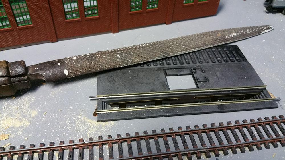 Entschlackungsanlage im Bahnbetriebswerk