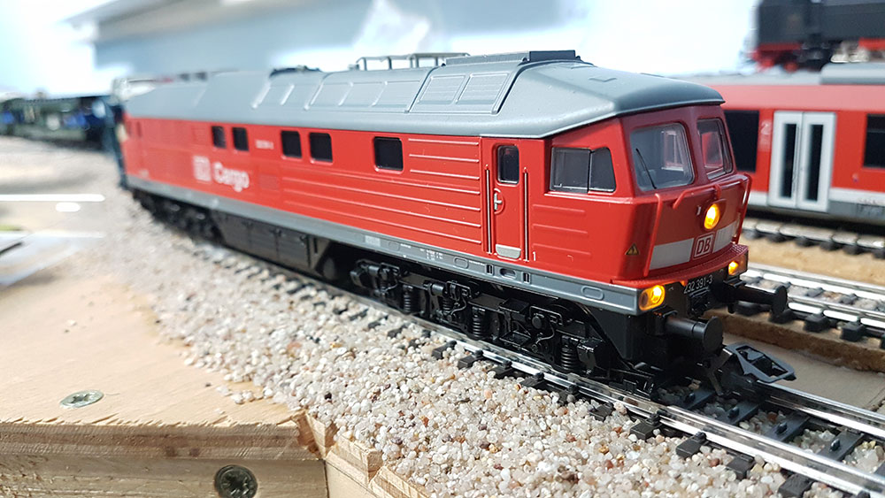 Ludmilla BR 232 391-3 auf der Modellbahn-Anlage