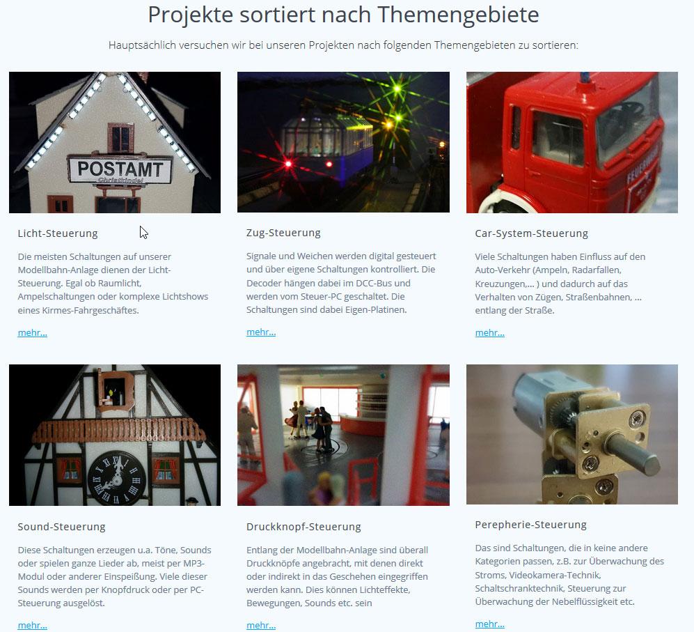Kategorien auf der Seite https://www.modellbahn-digitaltechnik.de/