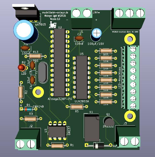 Beleuchtung Decoder WS2812B 01