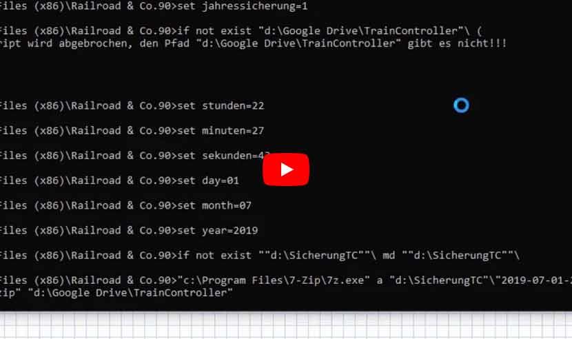 Modellbahn TrainController Tutorial #36: TrainController und unser Sicherungs-Skript automatisieren