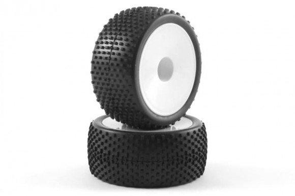 Ein paar verklebte Reifen und Felgen