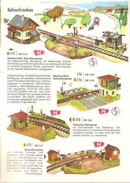 Faller Katalog 1962/63 Bahnübergang B-176