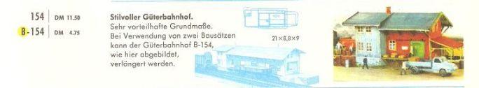 Faller Güterbahnhof B-154