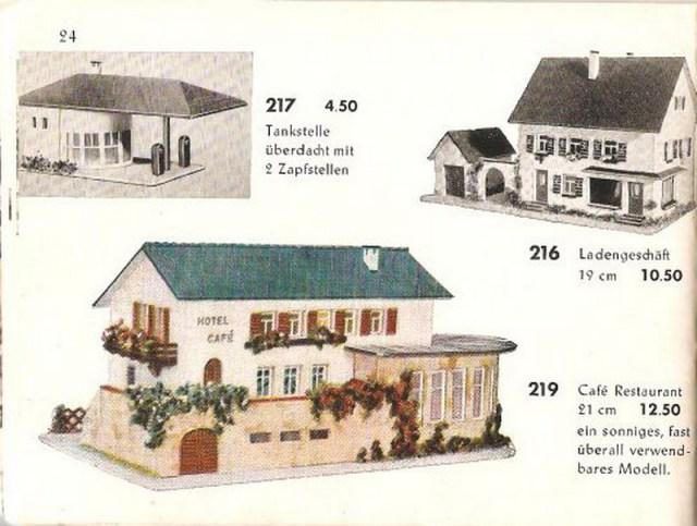 Faller Ladengeschäft 216, Faller Katalog 1955