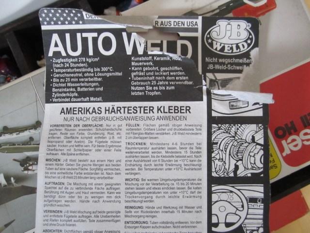 2 Komponentenkleber J-B WELD