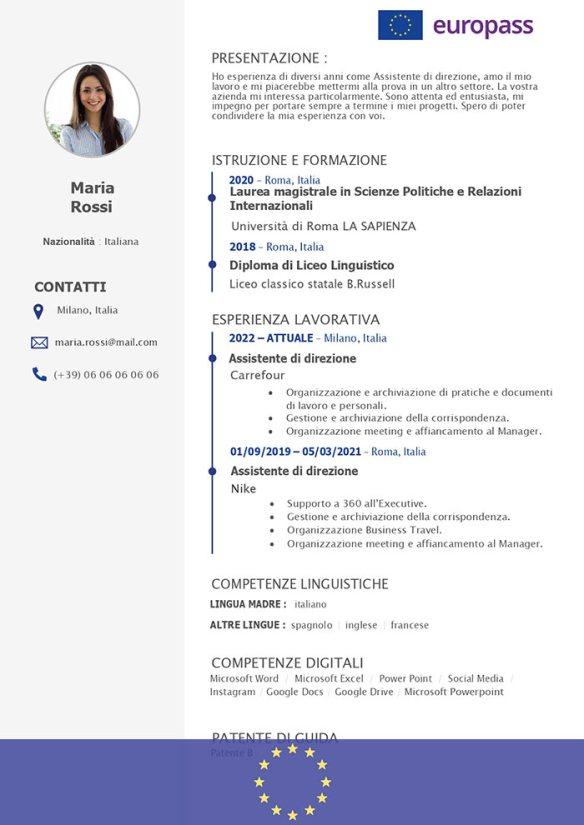 CV Europass Ufficiale © da Scaricare in Word   CV Europeo ✓