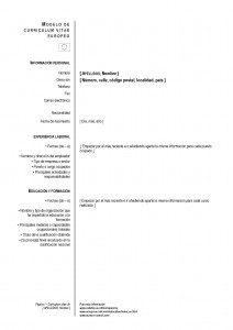 nuestra sección y plantillas currículum vitae