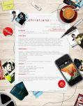 Formato de CV creativo para comunicación