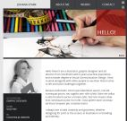 Plantilla de curriculumo online con HTML Site Square resume package