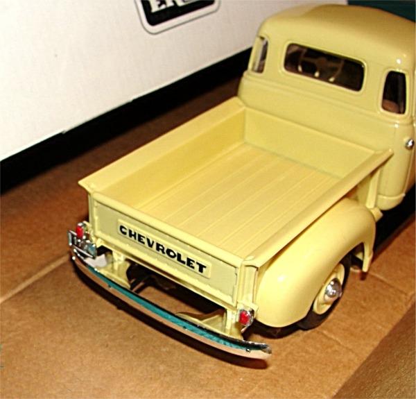 1950 Chevy Pickup Cream Medium Promo 125 Mint In Box