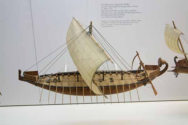 Models Of Egyptian Ships In The Deutsche Museum Munich
