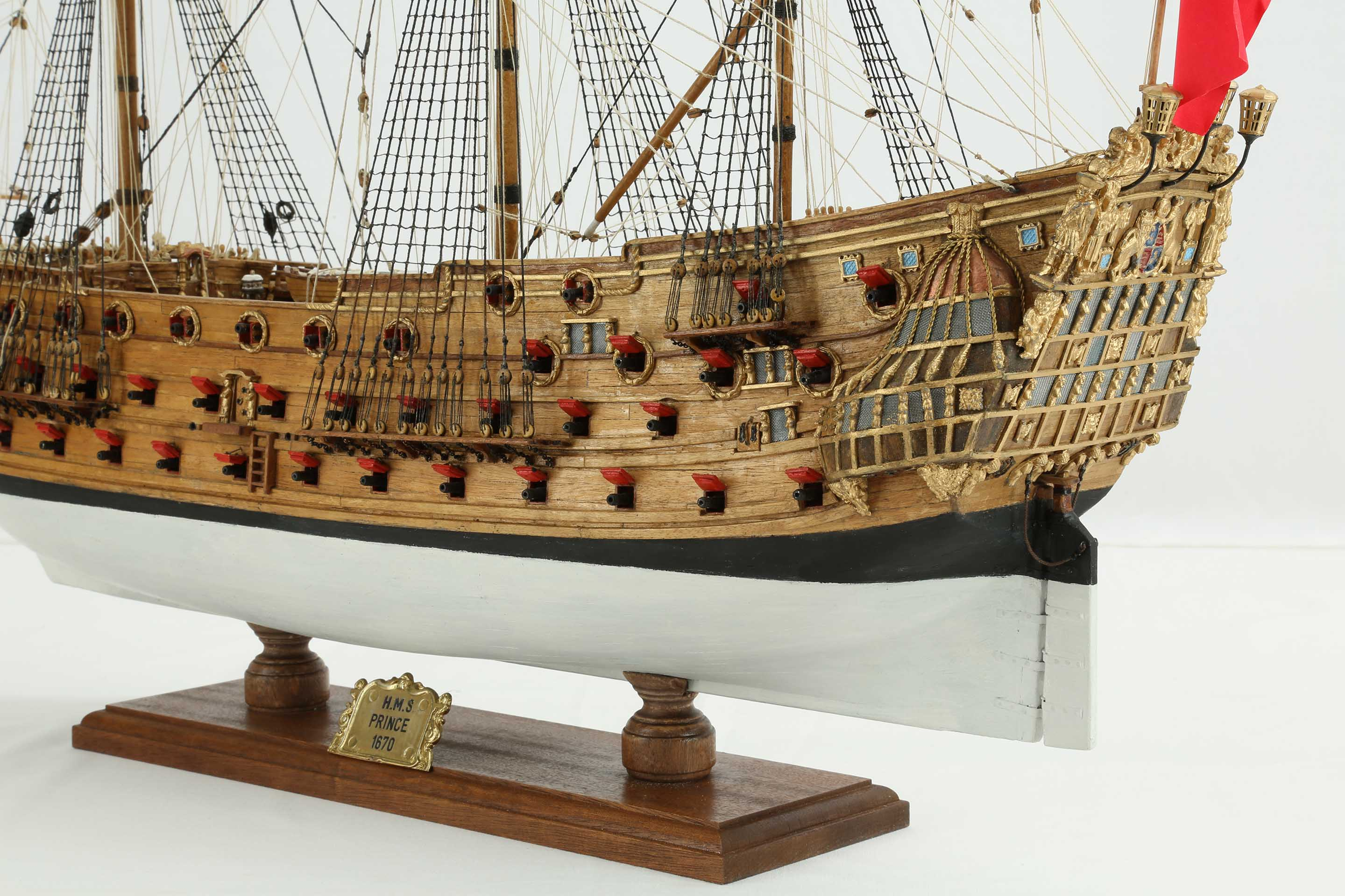 Photos Ship Model English H M S Prince Of 1670 Details
