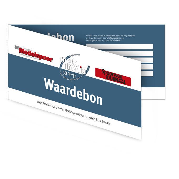 waardebon Modelspoormagazine - Spoorwegjournaal