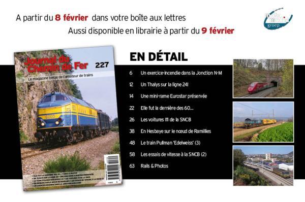 Sommaire Journal du Chemin de Fer 227 édition février - mars 2019