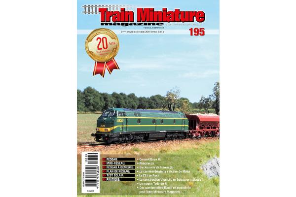 Cover train Miniature Magazine édition 195 - octobre 2019