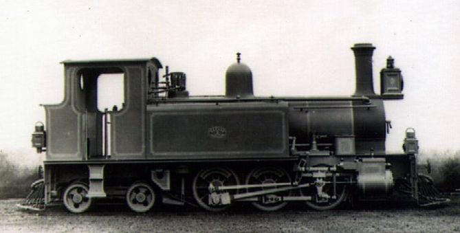 No. 3 of the Emu Bay and Mt Bischoff Railway in Tasmania. Neilson & Co built this 0-6-4T in 1888. Photo courtesy of Australian National Archives.