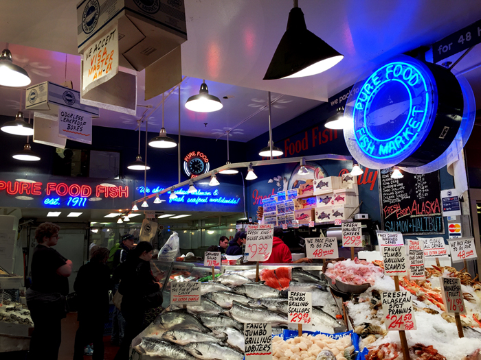 Seattle Pike's Place Market Fresh Fish & Seafood