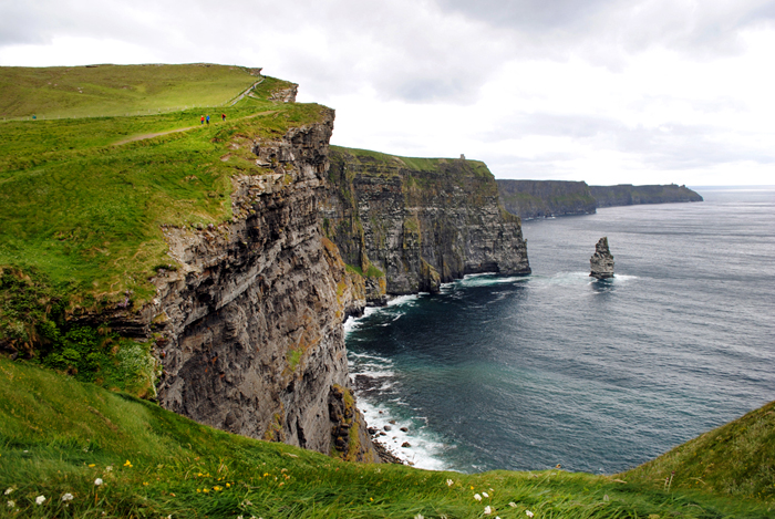 View of the Cliffs of Moher from the Burren Way