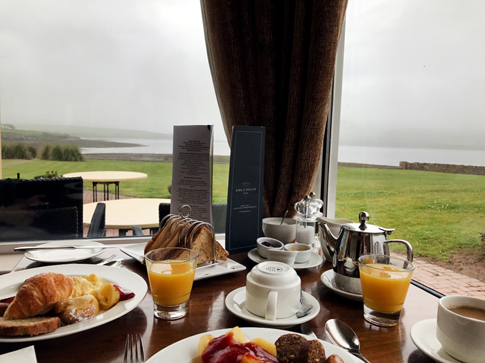 Breakfast at the Dingle Skellig Hotel in Ireland