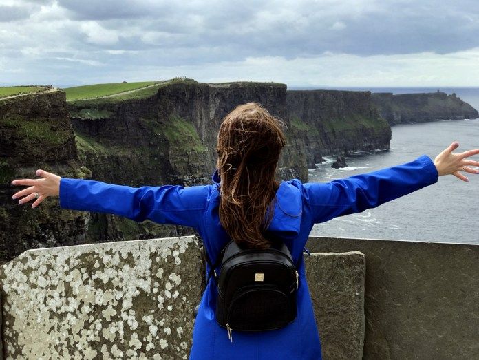 Photo ops at the Cliffs of Moher in Ireland