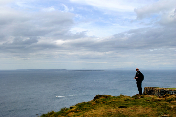 Riley at the Cliffs of Moher