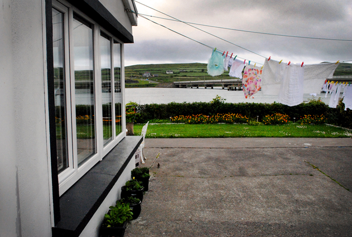 Laundry hanging to dry in Portmagee