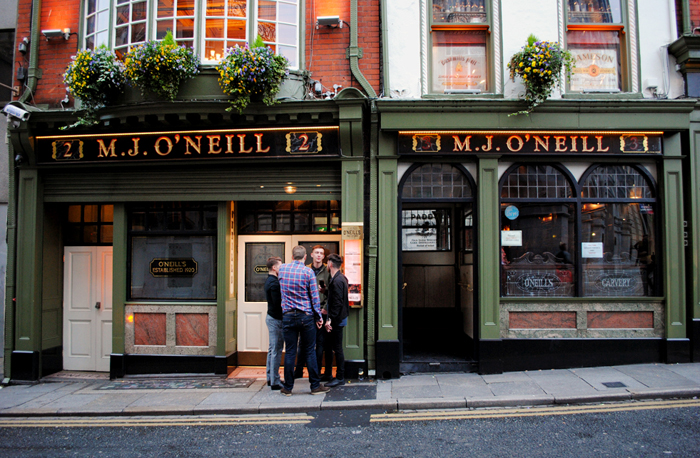 The bar scene of Dublin, Ireland