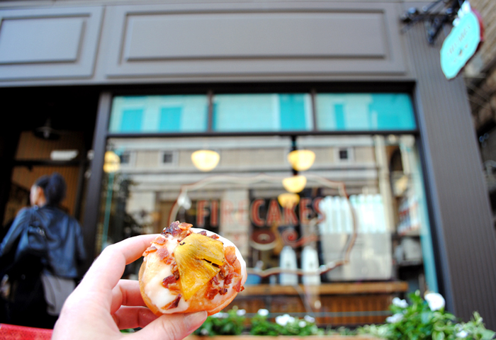 Pineapple maple bacon mini doughnut from Firecakes Donuts in Chicago