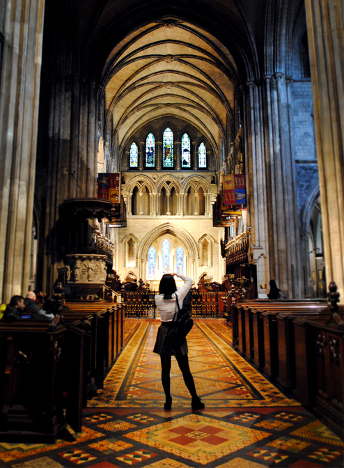 Touring St. Patrick's Cathedral in Dublin, Ireland
