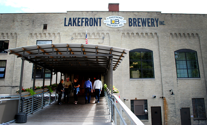 Lakefront Brewery on the river in Milwaukee, Wisconsin