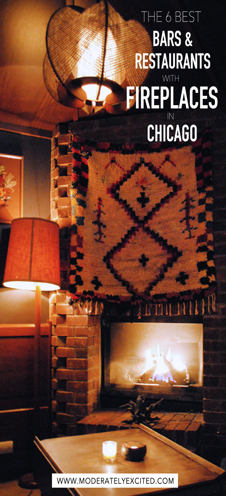 A definitive guide to the 6 best fireplaces in Chicago - the coziest bars and restaurants in the city.