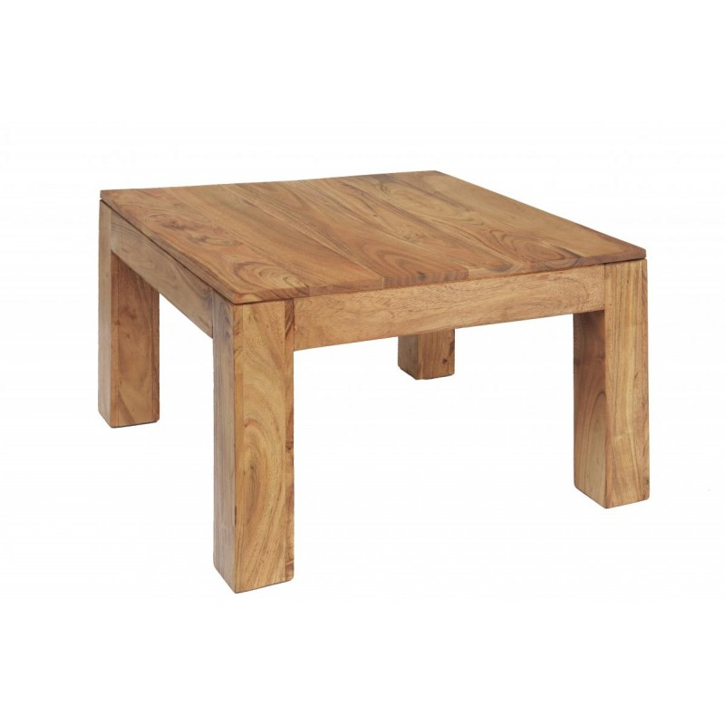 carnival solid acacia rustic small coffee table brushed sand finish