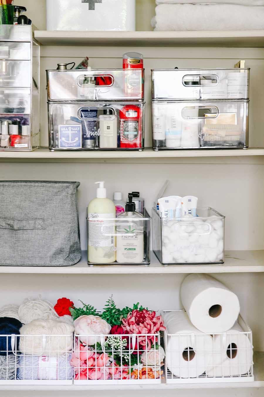 Linen Closet Organization Makeover Modern Glam