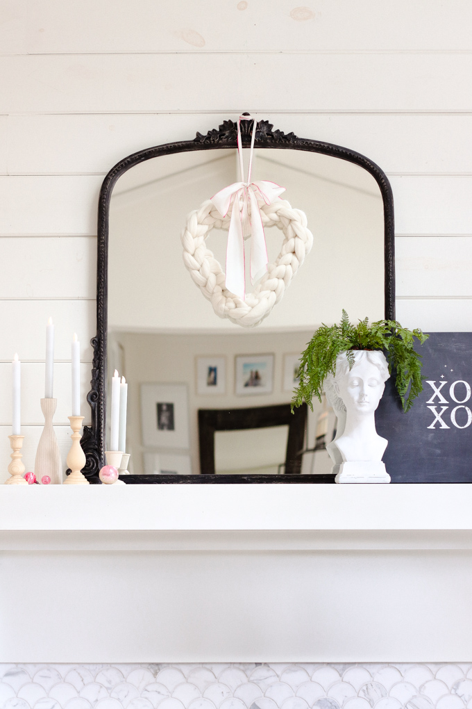 where to hang a wreath other than door