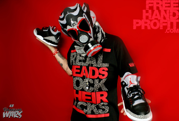 BlackCement3s017 Air Jordan 3 Black / Cement Gas Mask by Freehand Profit
