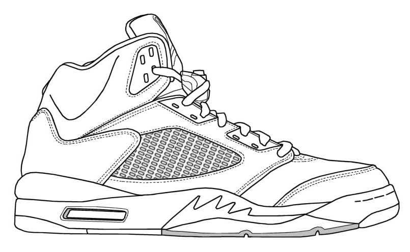 Show Air Jordan More Coloring Pages 5 Me Colouring Shoes UwIxwqdrP