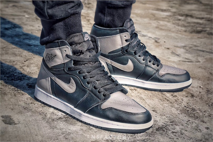 Air Jordan 1  Shadow  on Foot Jordan Brand will be releasing the Air Jordan 1    Shadow    once again this  year and it will feature a much better quality leather on the uppers
